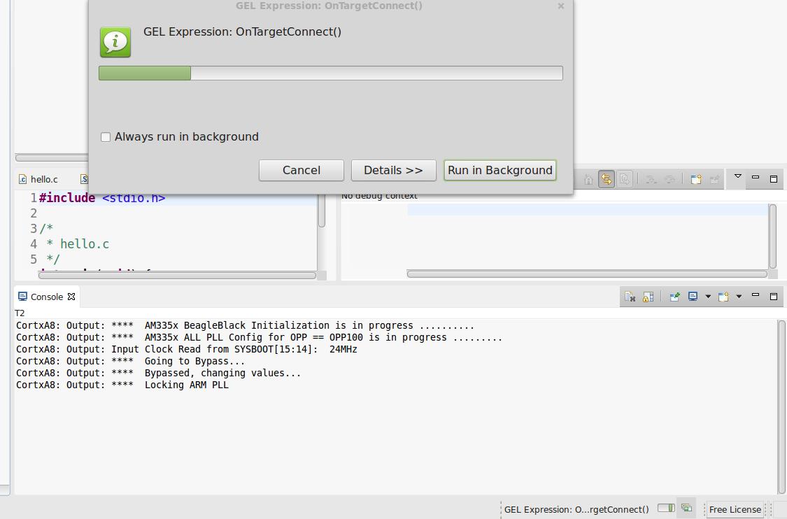 BeagleBone Black Debugging via TI USB100v2 JTAG Emulator